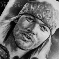Axl Rose drawing by Cleicha