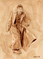 Tenth Doctor - in coffee by Adnaurian