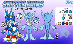 Zip the Coyote Reference Sheet 2013 by Amuzoreh