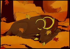 Autumn Nap by Wolfool
