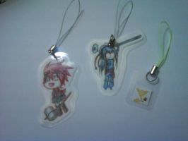 .:D.Gray-Man Charm Set:. by NerinSerene