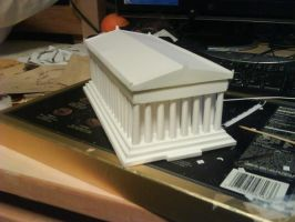 Papercraft: Parthenon by solessthanthree