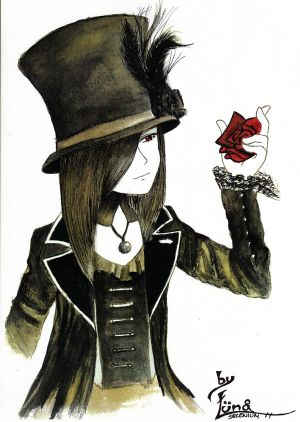 fan-arts Asagi_and_the_rose_by_LunaSelenium