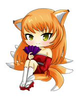 Birthday Gift - Chibi Kitsune Maiden for Fox by NatsumeHirai