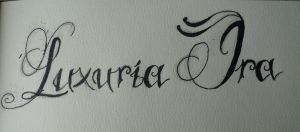 Lettering Luxuria ira by ShayeraLee