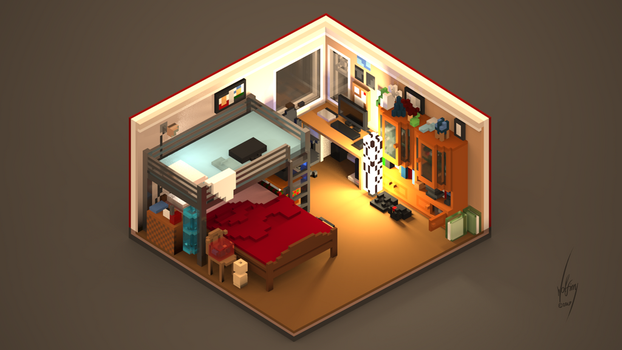 My room in Voxels (+Video) by WolFirry