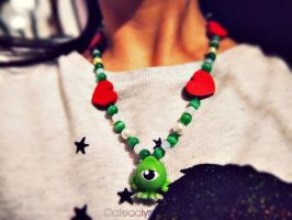 Mike Wazowski Necklace by Cateaclysmic