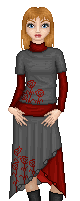 Meredith in Red and Grey by Elanorea
