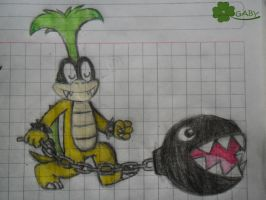 Iggy Koopa sketch by xxGaby-23xx