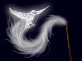 Sparrow Patronus by Whisperwings