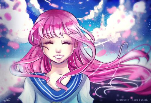 Sakura Dream + SPEEDPAINT video! by Saviroosje