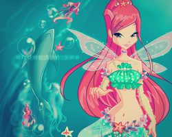 Wallpaper Roxy Mermaid by winxyarianna