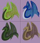 Aldun Dragon Adoptables - Batch 01 by Death-Tendency