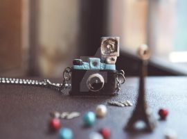 Diana Camera Necklace by songinthesnow