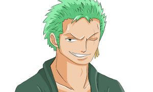 Me Colouring Cromarlimo's Zoro Lineart!!! by Namiiru