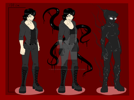 Shadow Self-Sona Reference Sheet - Done by ShadowInkWarrior