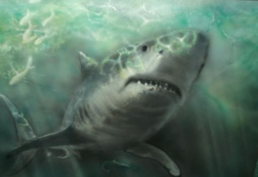 Airbrush 56 gt white shark by hofku43