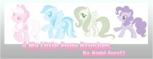 4 My Little Pony Brushes by Night-Fury12
