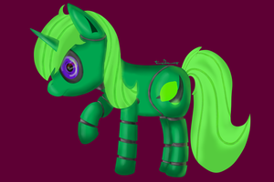 LimeBot (In shutdown mode, low energy) by LimeDreaming