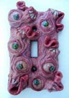 mush monster switch plate by dogzillalives