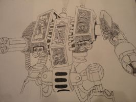 Space Marine Dreadnought by Lordmarshal