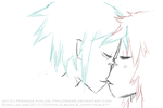 2D and Jay Kiss animation by MikuDraws