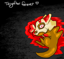 Cubone Together Forever by Singerwolf