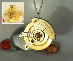 Steampunk 'Robot Eye' Pendant Necklace by Henri-1