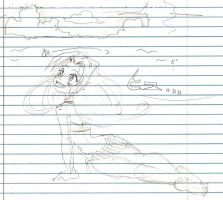 Aria on the surface uncolored by TheTeaMaker