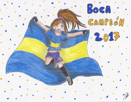 Boca Juniors Campeon 2017 by 1nvaderNad