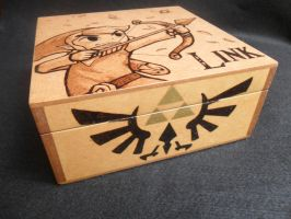 Wood Box: Toon Link [Pyrography / Woodburning] by dcmorais