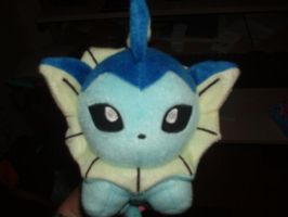 My Vaporeon Plushie by VexerRVixen