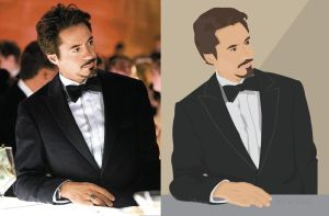 Robert Downy Jr Vector Drawing by kyleglor