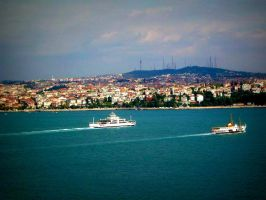 A view of the Bosphorus (at Topkapi Palace) by SeiMissTake