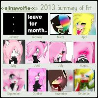 2013 Art Summary by X-AlinaWolfie-X