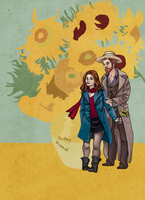 Van Gogh and Amy Pond by KittyNamedAlly