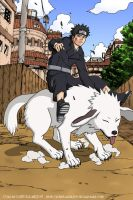 Kiba Inuzuka and Akamaru by LeMuTaLisKFoU