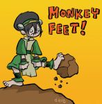Toph has Monkey Feet by yaytime