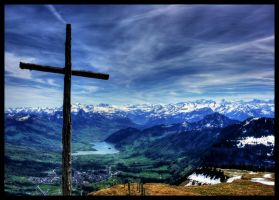 Mountain Cross by vesparia