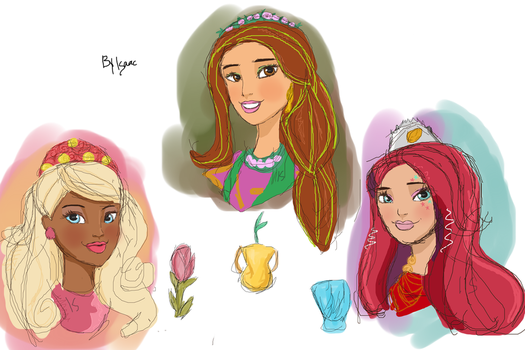 Ever After High - Nina, Jillian and Meeshell by isaacel