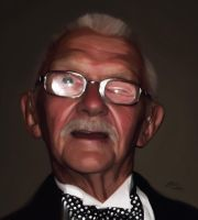 Portrait of my Grandfather by MatB