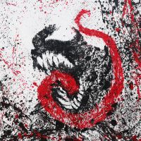 Paint Splatter Venom on Canvas (46x55cm) by Arian-Noveir