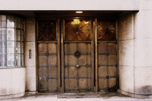 doors in Den Haag by spiralingspirit
