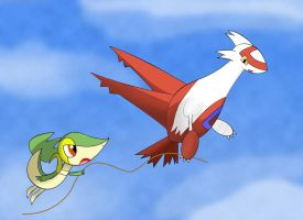 Latias and Smugleaf by Resistance-Of-Faith