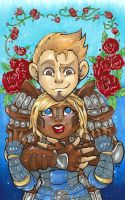 DA:O - Alistair and Aeducan by KeyshaKitty