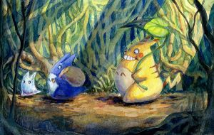 Pikatoro: Under the bushes by Pikatoro