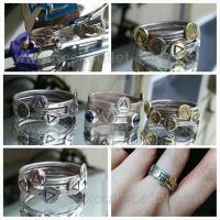 Legend of Zelda Ocarina Stacking Rings  by ShepardCommanderN7