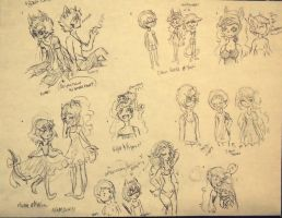 HT :: Sleep Over Event Sketches by PandoraRose22