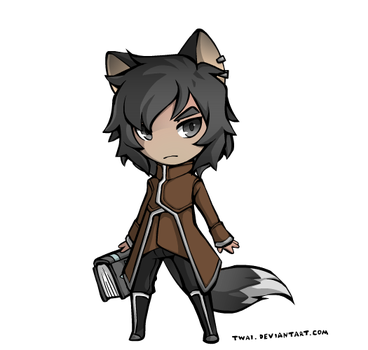 Gabriel-Lycan Fantasy Chibi by smoking-skeletons