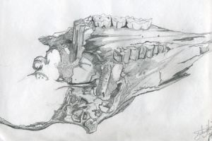 cow skull from art class by frumpy